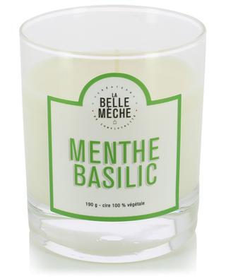 Mint Basil scented candle LA BELLE MECHE