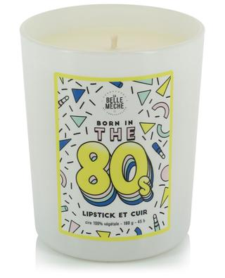 Born in the '80s illustrated scented candle LA BELLE MECHE