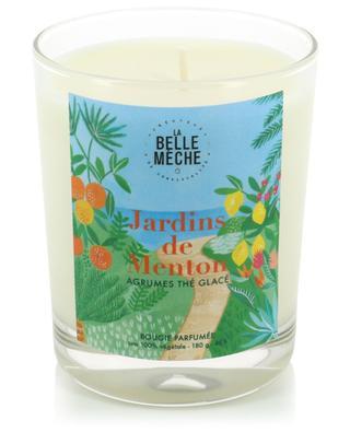 Bougie parfumée illustrée Jardins de Menton LA BELLE MECHE