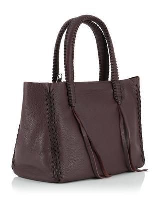 Cabernet small grained leather handbag CALLISTA