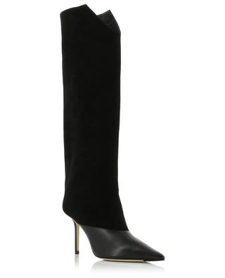 Brelan 85 heeled leather and suede boots JIMMY CHOO