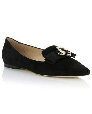 Gala monogrammed pointy tip ballet flats JIMMY CHOO