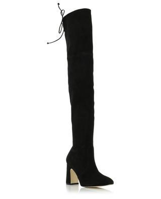 Kirstie 90 suede stretch boots with heels STUART WEITZMAN