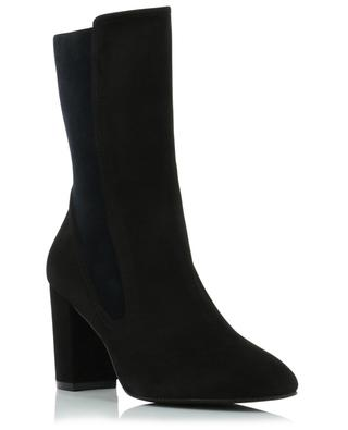 Fifer 80 heeled suede and fabric ankle boots STUART WEITZMAN