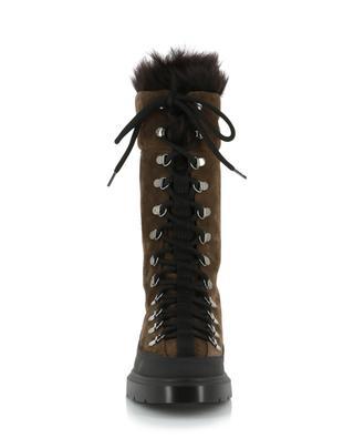 Jessie faux fur lined suede lace-up booties STUART WEITZMAN