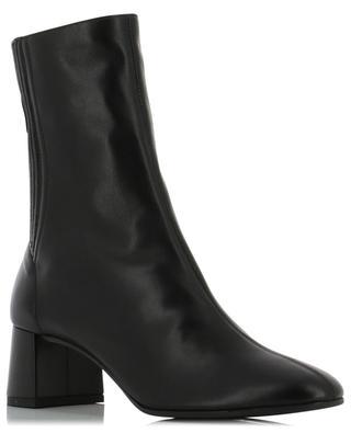 Saint Honoré 50 block heel leather ankle boots AQUAZZURA