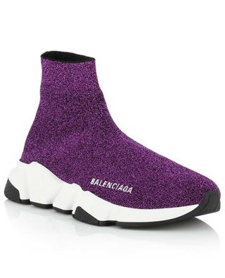 Speed glittering high-top sock sneakers BALENCIAGA
