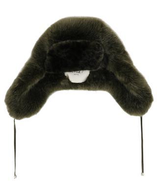 Leopard detail faux fur Cossack hat / FAZ / NOT FUR
