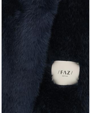 Faux fur stole with magnet closure / FAZ / NOT FUR