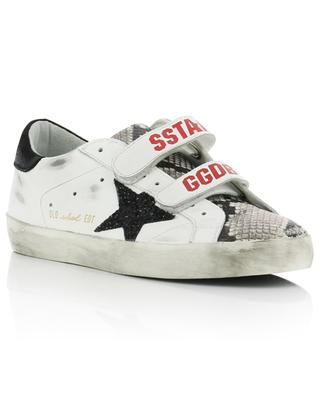 Baskets en cuir détail peau de serpent Old School GOLDEN GOOSE