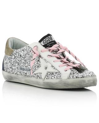 Niedrige Sneakers mit silbernem Glitter Superstar GOLDEN GOOSE