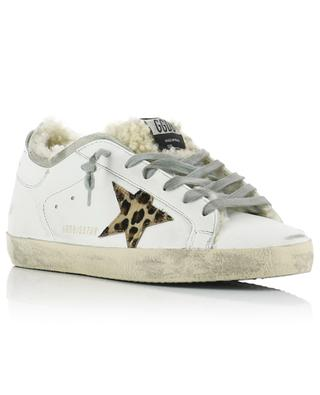 Fellgefütterte Sneakers mit Leo-Stern Superstar GOLDEN GOOSE