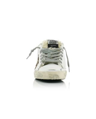 Superstar shearling lined sneakers with leopard star GOLDEN GOOSE
