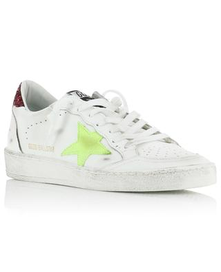 Ball Star leather sneakers with neon yellow star GOLDEN GOOSE