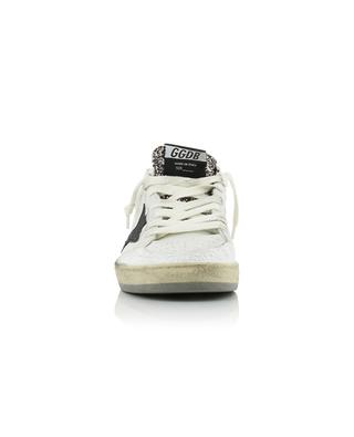 Ball Star leather lace-up sneakers with black glitter star GOLDEN GOOSE