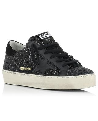 Baskets à plateau couvertes de paillettes noires Hi Star GOLDEN GOOSE