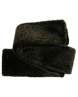 Maxi Soldier leopard print faux fur scarf / FAZ / NOT FUR