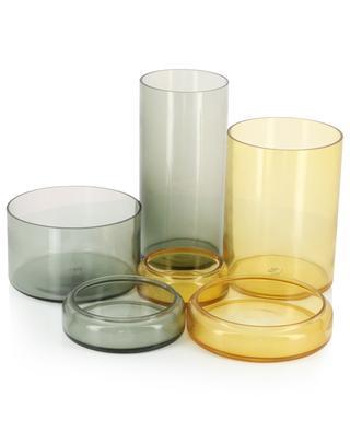 Set of 3 glass jars and caps POLS POTTEN