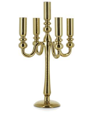 Bougeoir à cinq branches en verre doré Antique POLS POTTEN