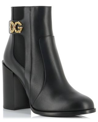 Jane Rodeo heeled leather booties with DG buckle DOLCE & GABBANA