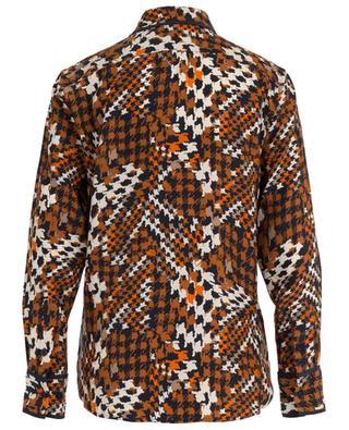 Seidenhemd mit Glencheck-Print Leema EQUIPMENT