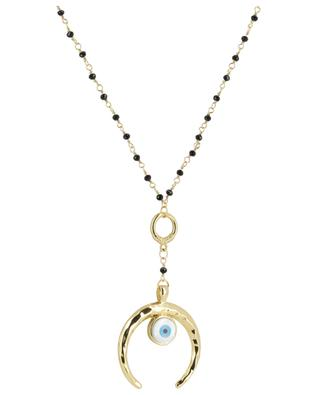 Horny necklace with horn and eye THEGOLDLOVESHOP