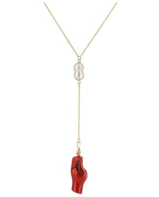 Coral Shell golden necklace with coral THEGOLDLOVESHOP