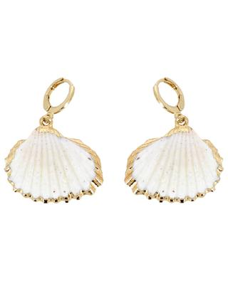 White Shell hoop earrings THEGOLDLOVESHOP