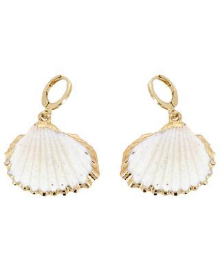 White Shell hoop earrings THEGOLDLOVESHOP