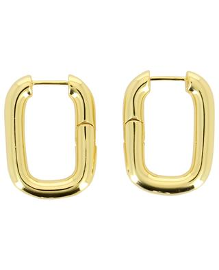 Olivia rectangular hoop earrings THEGOLDLOVESHOP