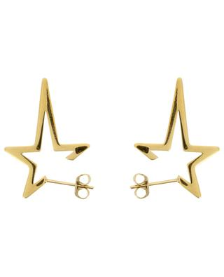 Punk Star golden stud earrings THEGOLDLOVESHOP