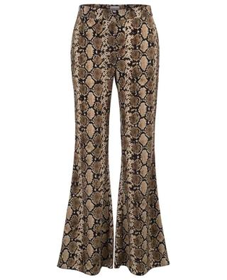 Happy flared python print trousers SEDUCTIVE