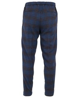 Freetime checked wool, silk and cashmere trousers MARCO PESCAROLO
