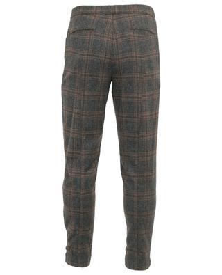 Pantalon à carreaux en laine, soie et cachemire Freetime MARCO PESCAROLO