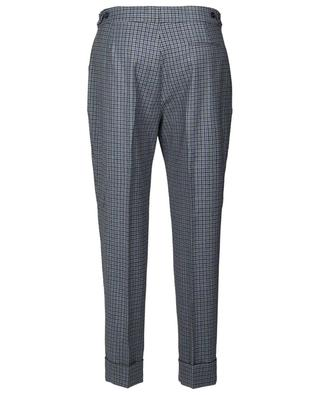 Andrea straight-fit gingham check wool trousers PT01