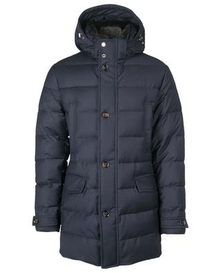 Saturno-LL2 padded quilted wool and cashmere parka MOORER
