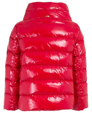 Glossy short down jacket with three-quarter sleeves HERNO