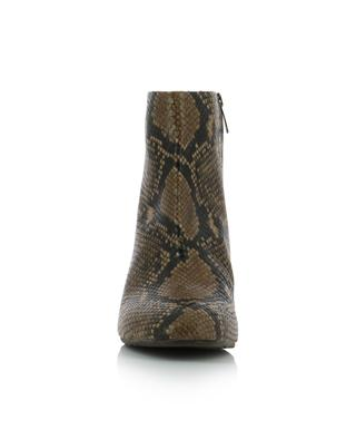 Snakeskin effect leather ankle boots BONGENIE GRIEDER