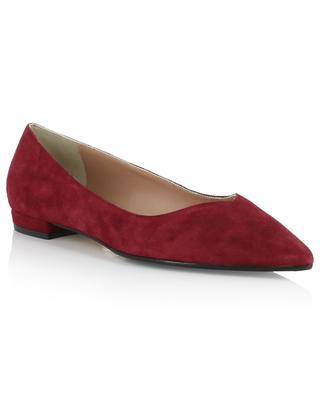 Suede ballet flats with pointy tips BONGENIE GRIEDER