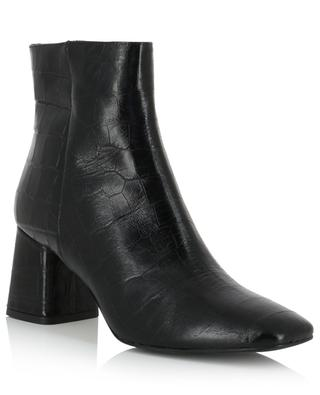 Heeled croc effect leather ankle boots BONGENIE GRIEDER