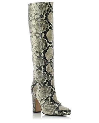 Tube Zip heeled python effect boots BONGENIE GRIEDER