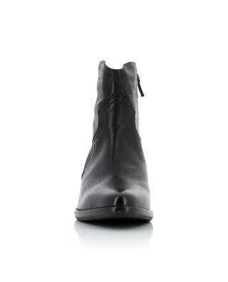 Vintage effect Western spirit leather ankle boots BONGENIE GRIEDER