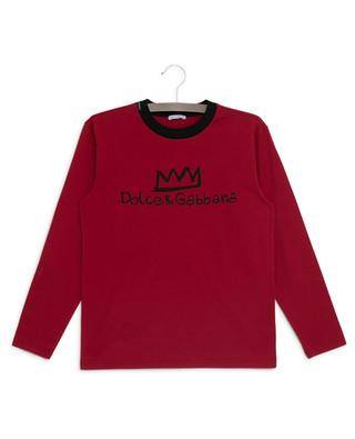 DNA long-sleeved T-shirt with crown print DOLCE & GABBANA