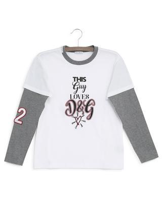 T-shirt à manches longues et message Millenials DOLCE & GABBANA