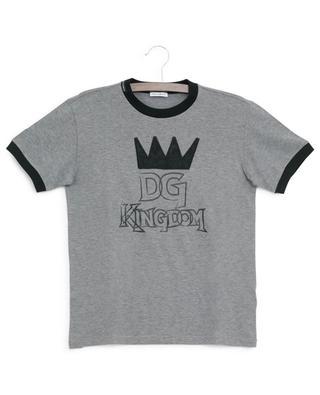 T-shirt à message avec couronne DNA DOLCE & GABBANA