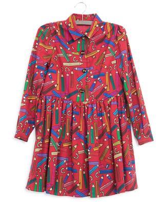 Pencil print flannel dress DOLCE & GABBANA