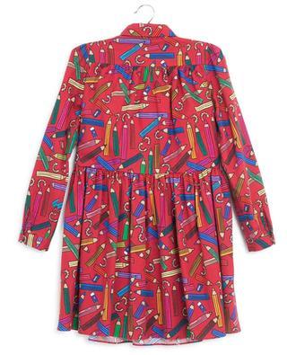 Robe en flanelle imprimée crayons DOLCE & GABBANA