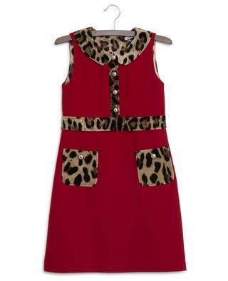 Robe sans manches détail léopard Animal DOLCE & GABBANA