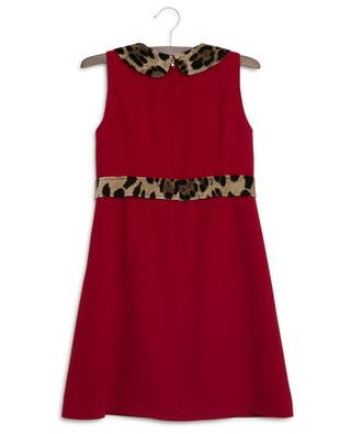 Animal sleeveless leopard detail dress DOLCE & GABBANA