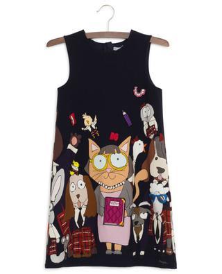 Ärmelloses Kleid aus Baumwollmix mit Print Back To School DOLCE & GABBANA
